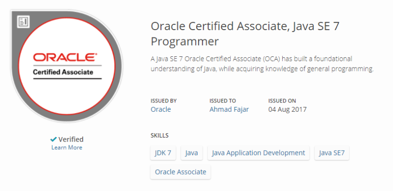 oca java se 7 certification